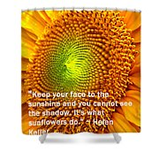 Face To The Sun Shower Curtain