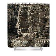 Faces Of Banyon Angkor Wat Cambodia Shower Curtain
