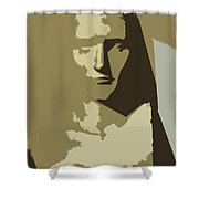 Faces Of Napoleon Shower Curtain