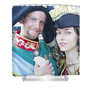Faces Of St. Petersburg Shower Curtain