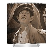 Faces Of War Shower Curtain
