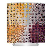 Facets And Circles Shower Curtain