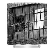 Factory Air In New Orleans In Black And White Shower Curtain