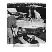 Factory: Chevrolet, 1960s Shower Curtain