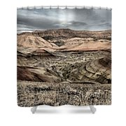 Faded Painted Hills Shower Curtain