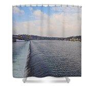 Fairmount Dam And Boathouse Row - Philadelphia Shower Curtain