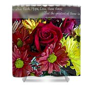 Faith Hope Love II Shower Curtain