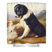 Faithful Friends Shower Curtain by English School