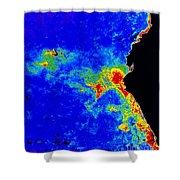 Fal-col Satellite Image Of Coastal Shower Curtain