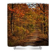 Fall At Center Point Trailhead Shower Curtain