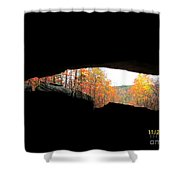 Fall At The Cave Shower Curtain