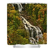 Fall At Whitewater Falls  Shower Curtain