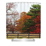 Fall Beauty Shower Curtain