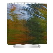 Fall Blur Shower Curtain