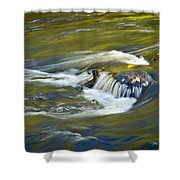 Fall Colors In River Rapids Shower Curtain