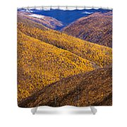 Fall Colours Along Top Of The World Shower Curtain