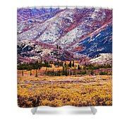 Fall Colours In Ogilvie Mountains Shower Curtain