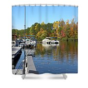 Fall Fishing Break Shower Curtain
