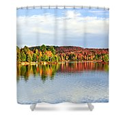 Fall Forest Reflections Shower Curtain