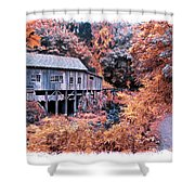 Fall Grist Mill Shower Curtain