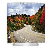 Fall Highway Shower Curtain