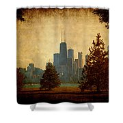 Fall In The City Shower Curtain