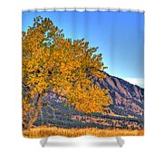 Fall In The Flatirons Shower Curtain