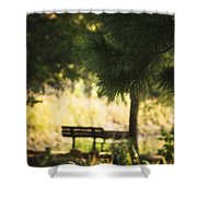 Fall In The Pines Shower Curtain