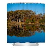 Fall Lake 4 Shower Curtain
