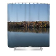 Fall On Beeds Lake Shower Curtain