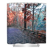 Fall On Forbidden Drive Shower Curtain