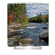 Fall On Swift River Shower Curtain