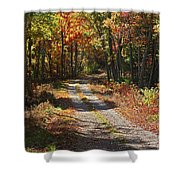Fall On The Wyrick Trail Shower Curtain