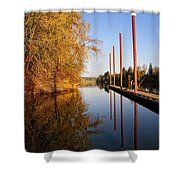 Fall Pier Shower Curtain