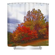 Fall Retreat Shower Curtain
