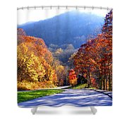 Fall Road 2 Shower Curtain