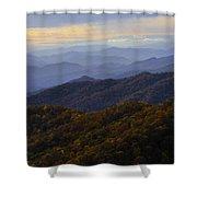 Fall Sunset On The Blue Ridge Shower Curtain