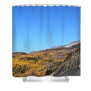 Fall Talkeetna Mountains Shower Curtain