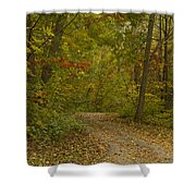 Fall Trail Scene 22 Shower Curtain