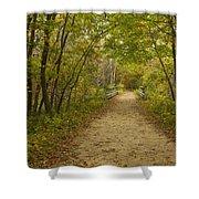 Fall Trail Scene 23 Shower Curtain