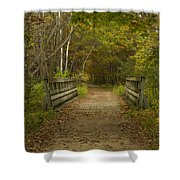 Fall Trail Scene 24 Shower Curtain