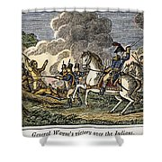 Fallen Timbers Battle Shower Curtain