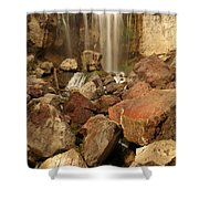 Falling In The Rocks Shower Curtain