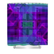 Falling Magenta 2 Shower Curtain