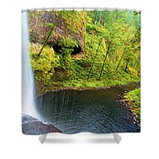 Falling Off The Cliff Shower Curtain