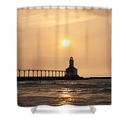 Falling On The Lighthouse Shower Curtain