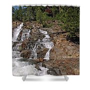 Falling Water Glen Alpine Falls Shower Curtain