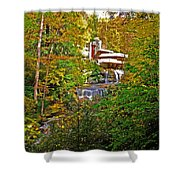 Falling Waters House Setting Shower Curtain