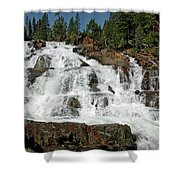 Falls Glen Alpine Falls Tahoe Shower Curtain