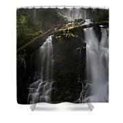 Falls Golden Light Shower Curtain